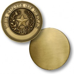 Texas State Seal Coin - Blank Engravable Reverse