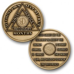9 Month - AA Antique Bronze -1½""