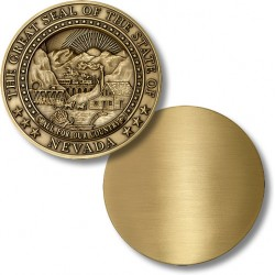 Nevada State Seal Coin - Blank Engravable Reverse