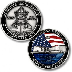 USS Arizona Memorial Challenge Coin