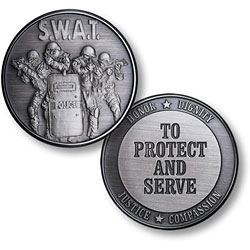 SWAT 4 Protect Nickel Antique