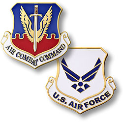 Air Combat Command Enamel