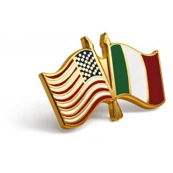 U.S./Italian Flag Lapel Pin