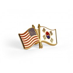 U.S./Korean Flag Lapel Pin