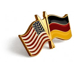 U.S./German Flag Lapel Pin