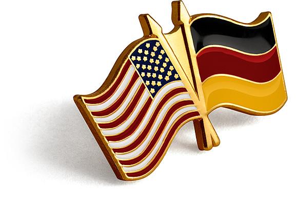 USGerman Flag Lapel Pin