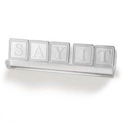 "10"" Acrylic 8-Letter Stand"