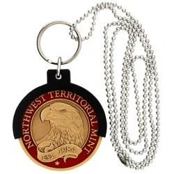 Black CHAMP Coin Holder Key Ring and Neck Chain