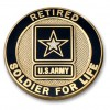Army Retired Soldier for Life Lapel Pin