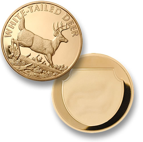 White Tailed Deer Merlingold 174 Coin